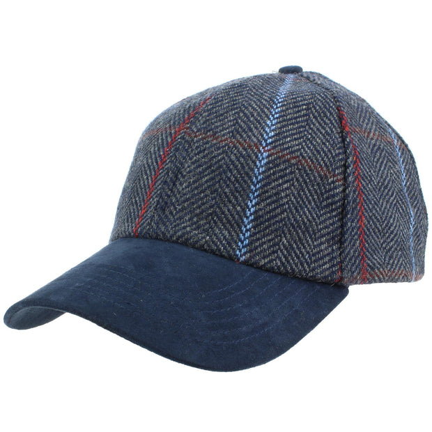 Wool Tweed Baseball Cap - Blue