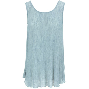 Sleeveless Knitted Top - Blue