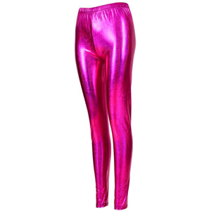 Shiny Leggings - Pink