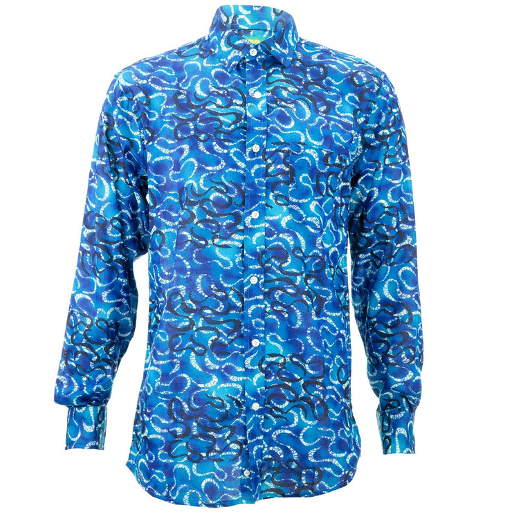 Regular Fit Long Sleeve Shirt - Serpentine