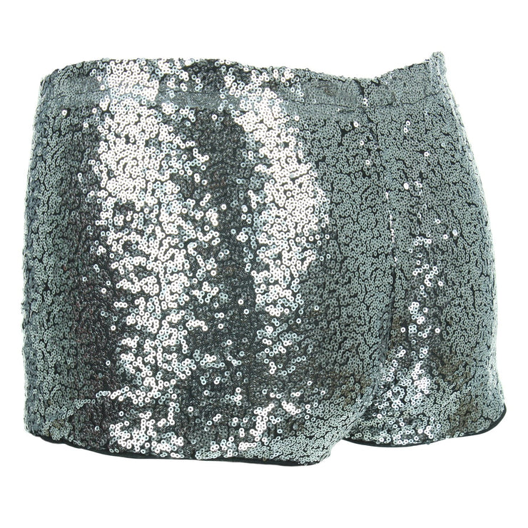 Sequin Hot Pants - Silver