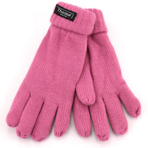 Fold Up Cuffs Thermal Gloves - Dusky Pink