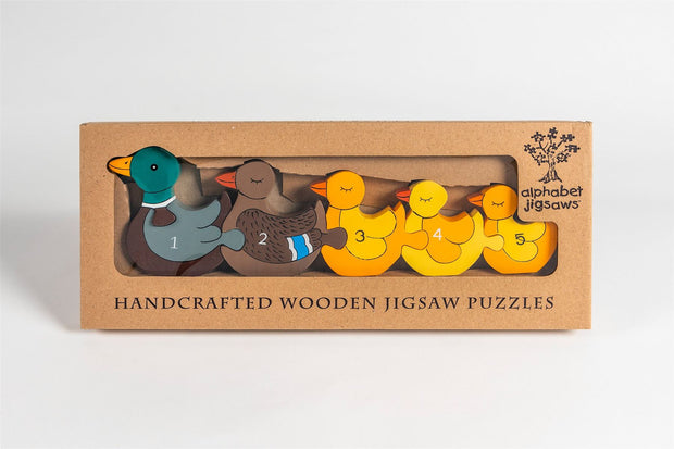 Handmade Wooden Jigsaw Puzzle - Number Ducks
