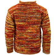 Chunky Wool Space Dye Knit Jumper - Sunset