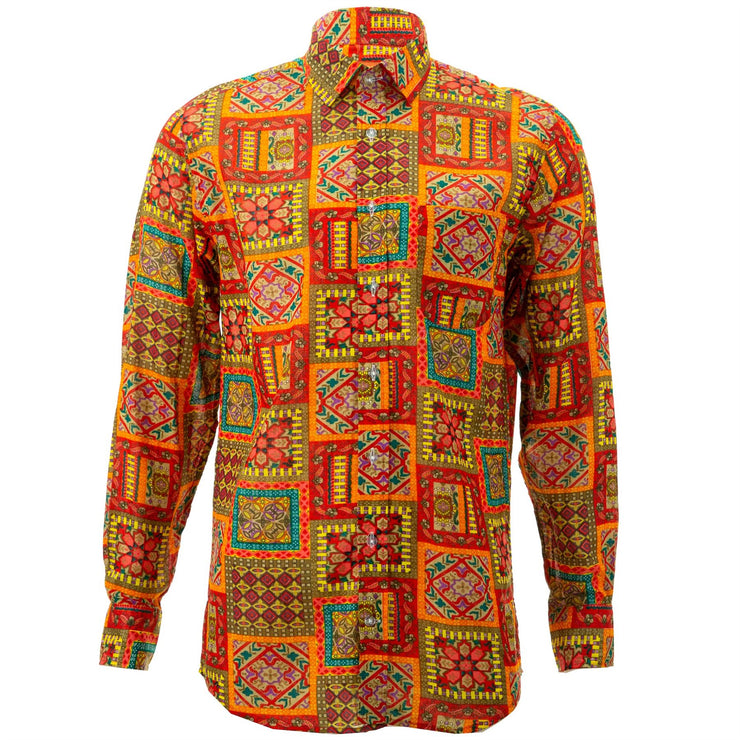 Regular Fit Long Sleeve Shirt - Patchwork