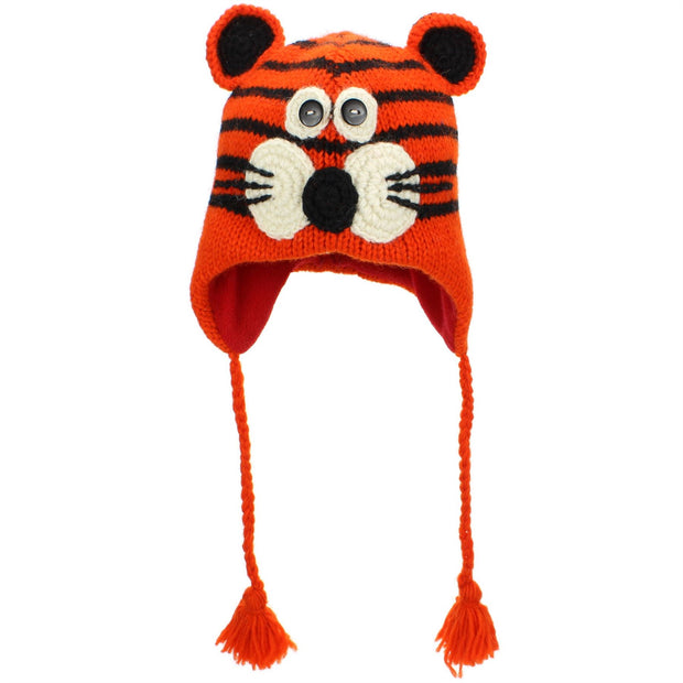 Wool Animal Hat - Tiger