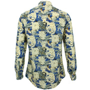 Slim Fit Long Sleeve Shirt - Lion Tiger Jungle