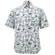 Regular Fit Short Sleeve Shirt - Bicycles