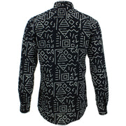 Tailored Fit Long Sleeve Shirt - Block Print - Geometric
