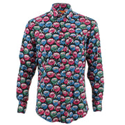 Regular Fit Long Sleeve Shirt - Colourful Eye Flowers