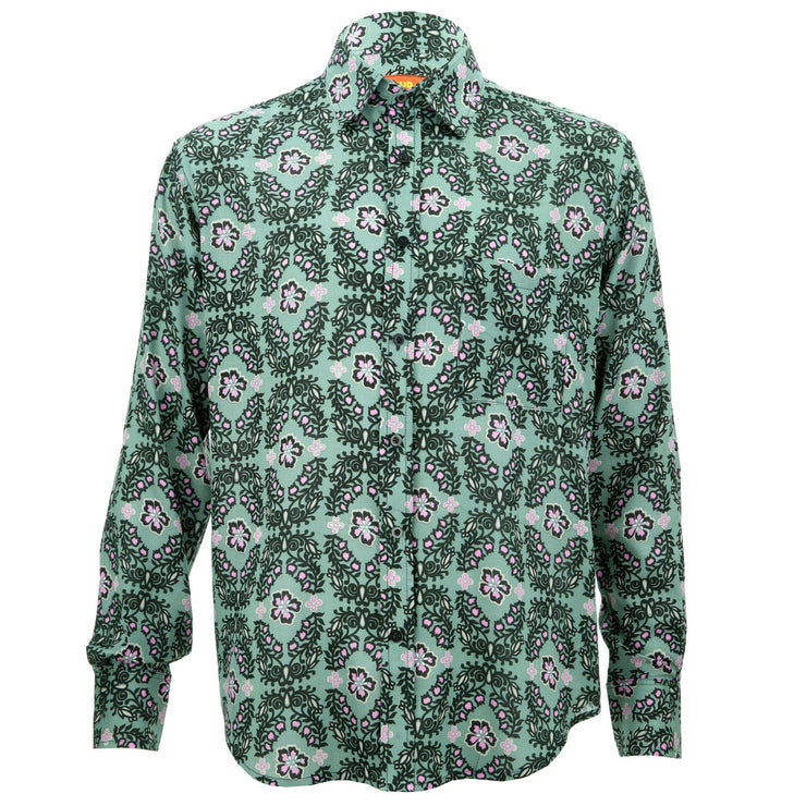 Regular Fit Long Sleeve Shirt - Floral Ring
