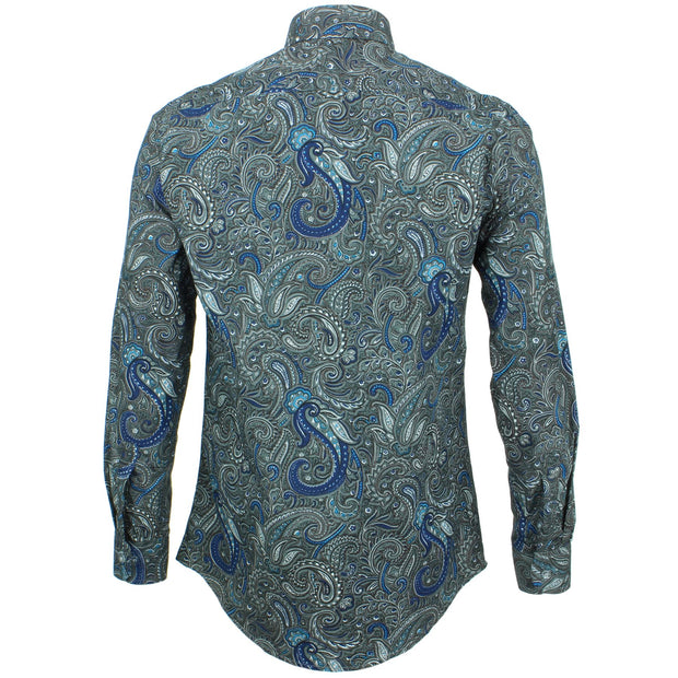 Slim Fit Long Sleeve Shirt - Floral Paisley