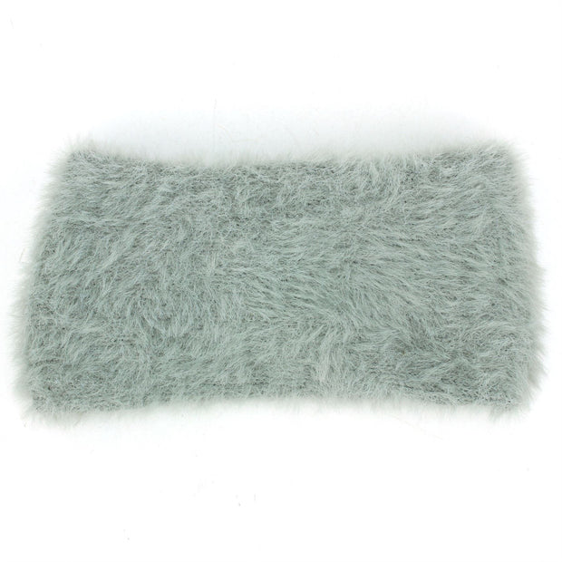 Bowknot Faux Fur Headband - Grey