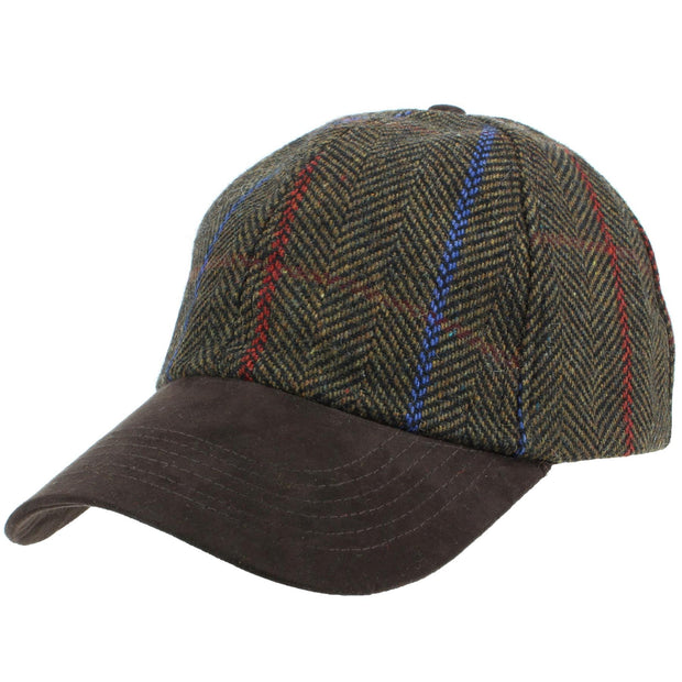 Wool Tweed Baseball Cap - Brown
