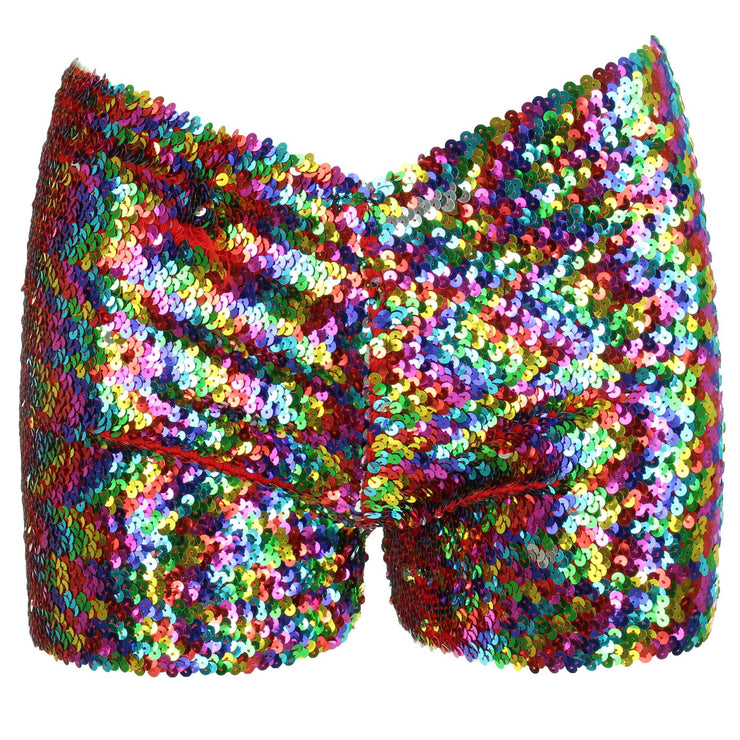 Sequin Shorts - Rainbow