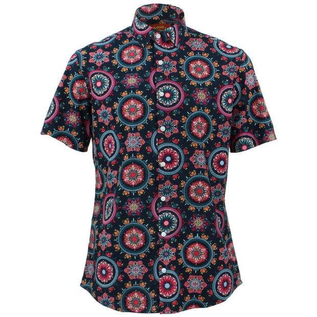 Tailored Fit Short Sleeve Shirt - Fractal