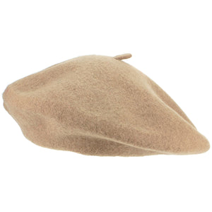 Wool Beret Hat - Coffee