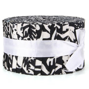 Cotton Batik Jelly Roll Pre Cut Fabric Bundle - Black & White