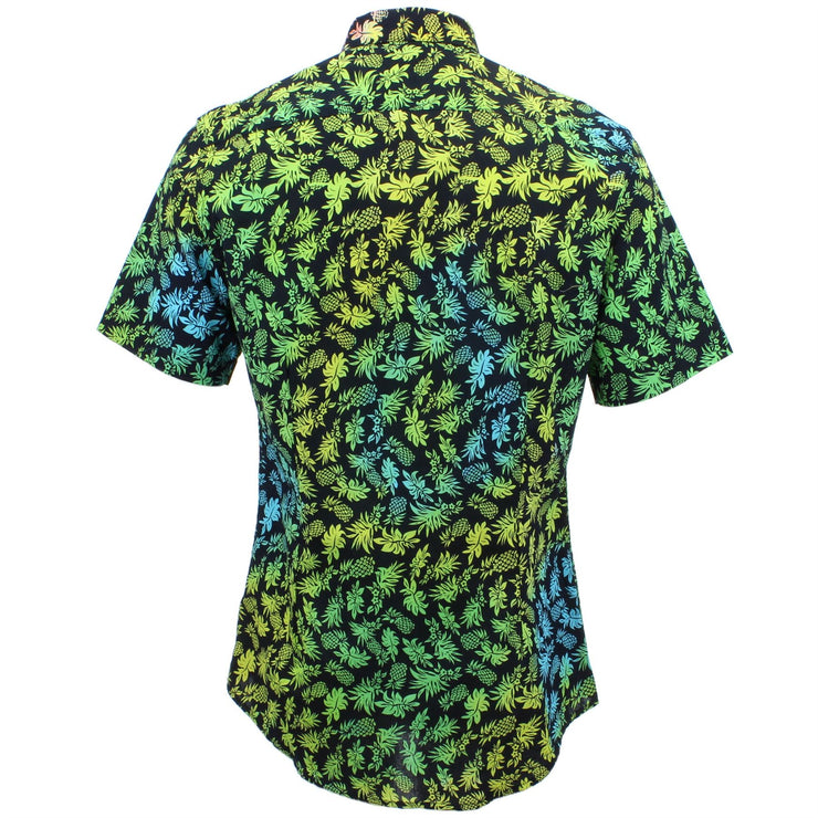 Slim Fit Short Sleeve Shirt - Multicoloured Pinapples