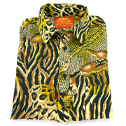 Regular Fit Short Sleeve Shirt - Jungle Menagerie - Gold