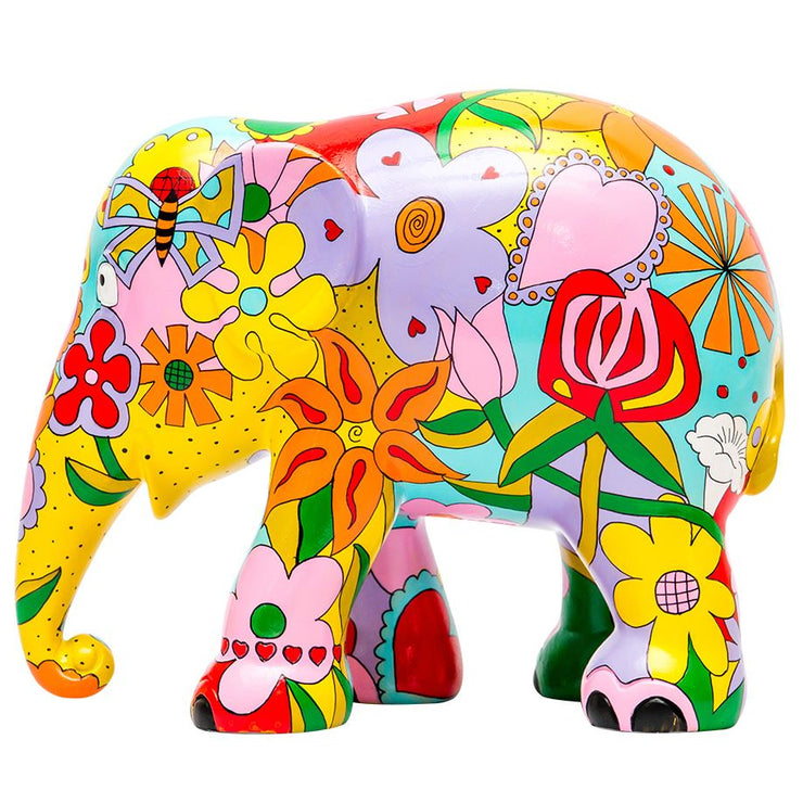 Limited Edition Replica Elephant - Elephant Flowers