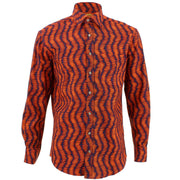 Regular Fit Long Sleeve Shirt - Orange Ellipses