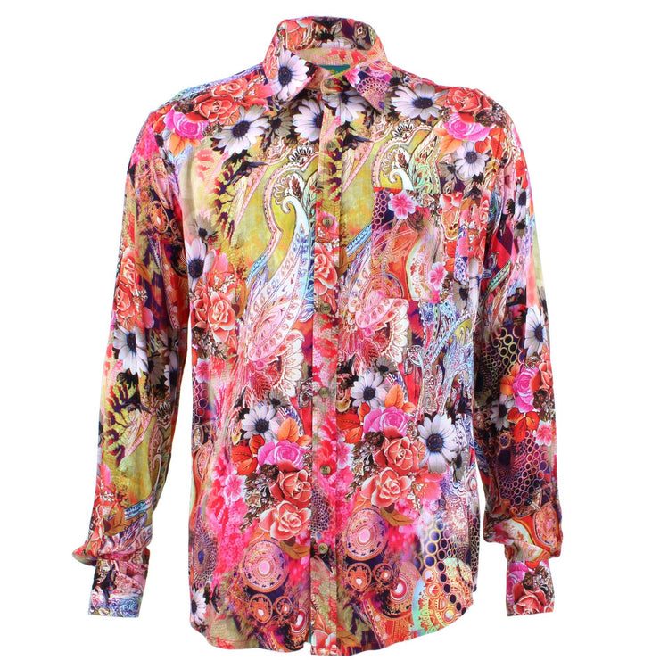 Tailored Fit Long Sleeve Shirt - Bright Floral Paisley