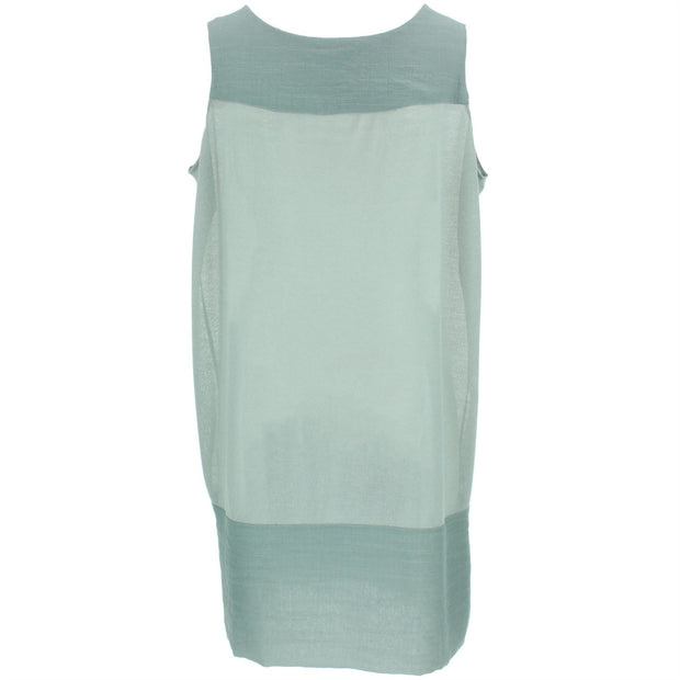 Sleeveless Shift Dress - Sea Green