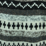 Chunky Wool Knit Abstract Pattern Jumper - Grey