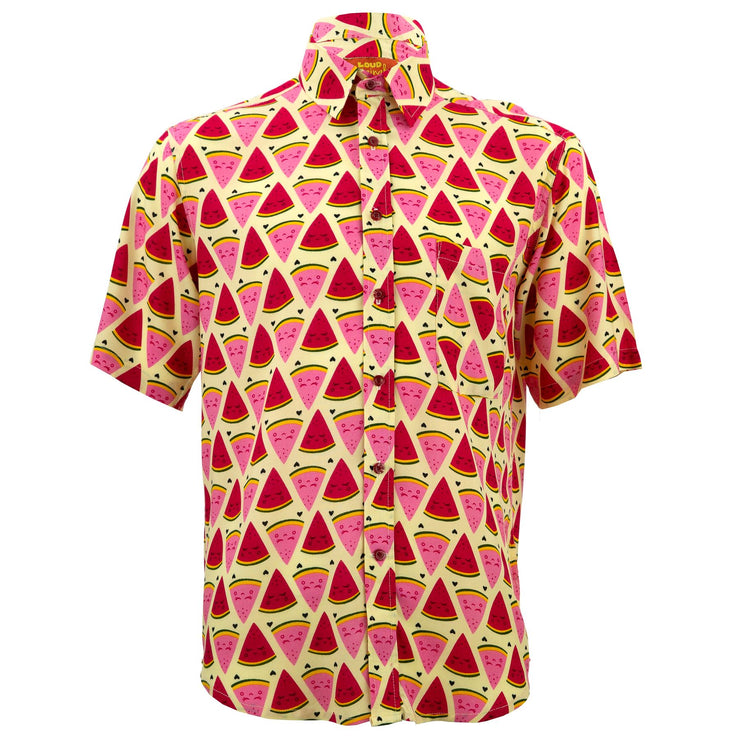 Regular Fit Short Sleeve Shirt - Watermelon