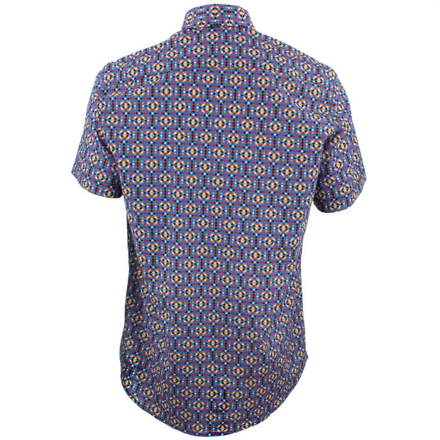 Tailored Fit Short Sleeve Shirt - Pixelated Tiles