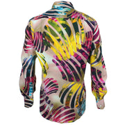 Regular Fit Long Sleeve Shirt - Red & Yellow Abstract Jungle