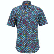 Regular Fit Short Sleeve Shirt - Diamond Block