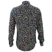 Tailored Fit Long Sleeve Shirt - Multi-coloured Abstract Blocks