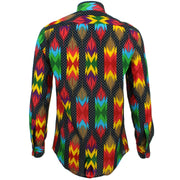 Tailored Fit Long Sleeve Shirt - Aztec Polka Dots