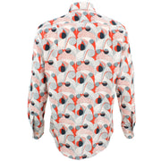 Regular Fit Long Sleeve Shirt - Bright Red & Green Abstract