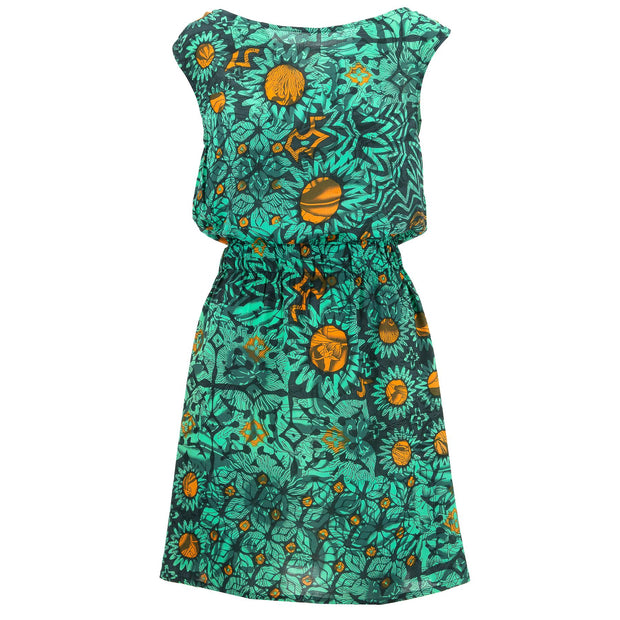 Stretch Waister Dress - Sunflower Glow Green