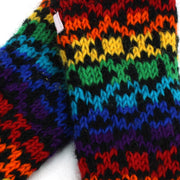 Wool Knit Arm Warmer - Rainbow Diamond