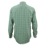 Tailored Fit Long Sleeve Shirt - Green Circle Print