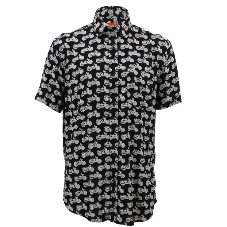 Regular Fit Short Sleeve Shirt - Motorcycles