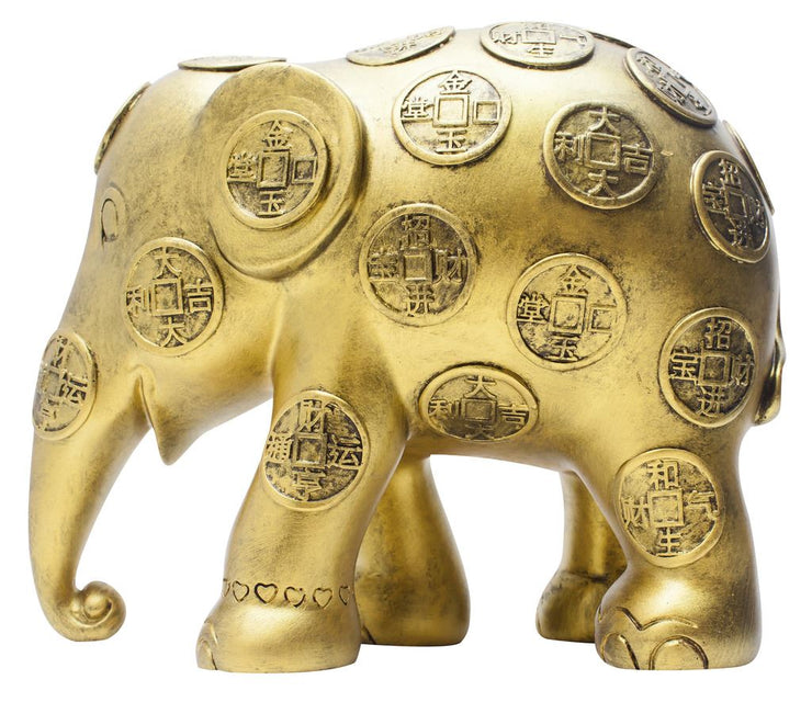 Limited Edition Replica Elephant - Lucky Coins