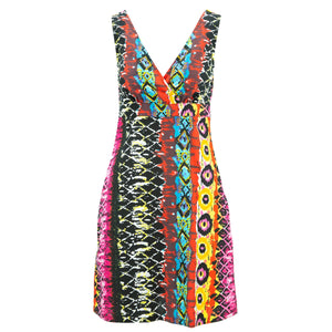 Crossover Dress - Psychedelic Snakeskin