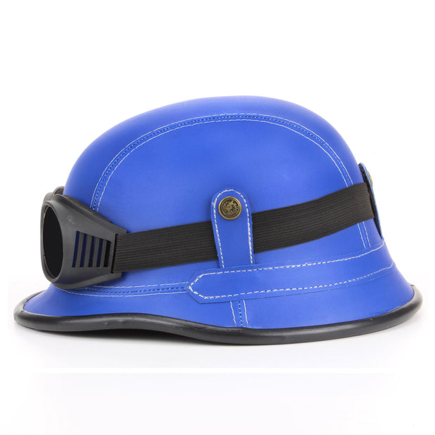 Combat Novelty Festival Helmet with Goggles - Blue