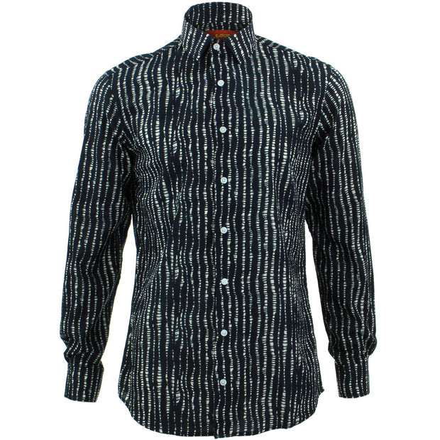 Slim Fit Long Sleeve Shirt - Spine Lines