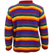 Chunky Wool Knit Striped Jumper - Rainbow