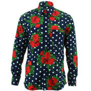 Regular Fit Long Sleeve Shirt - Polka Floral