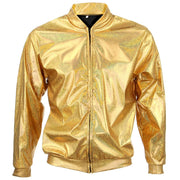Unisex Shiny Bomber Jacket - Gold