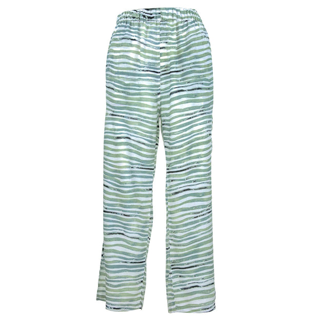 Loose Summer Trousers - Wavey Green