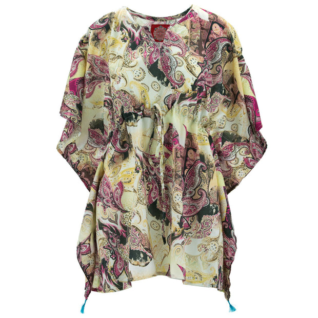 Beach Kaftan Cover-Up - Paisley (One Size)