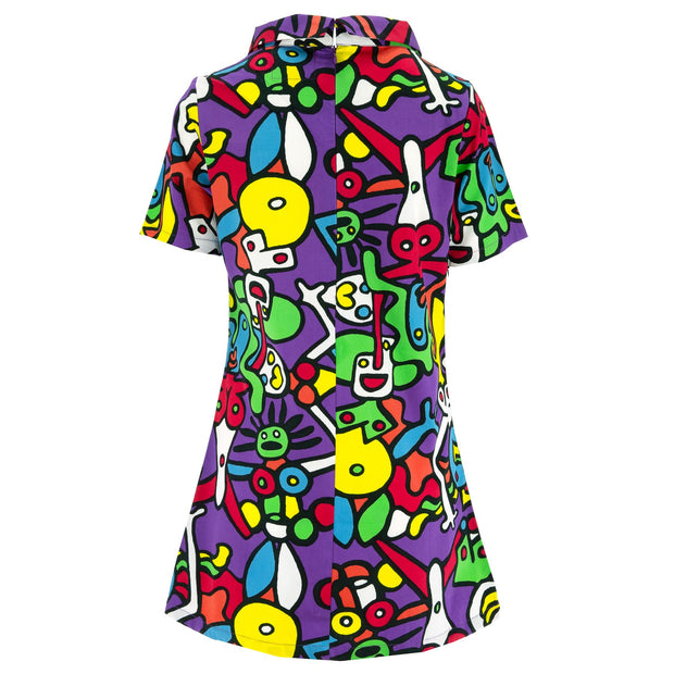 Sixties Shift Dress - Tiffy Purple